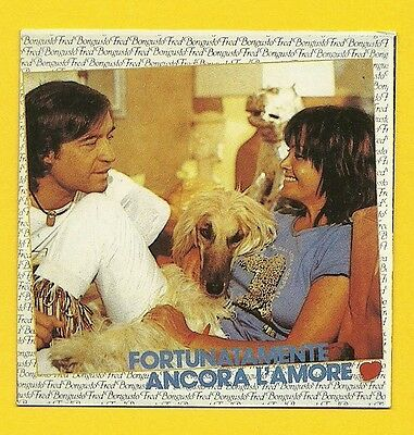 Collectibles Other Non-sport Card Merch Fred Bongusto Fortunatamente Ancora Lámore #40 Sticker Card Italy Preventing Hairs From Graying And Helpful To Retain Complexion