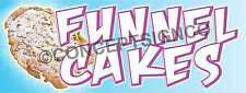 2x5 Funnel Cakes Banner Outdoor Sign Carnival Fair Fest Concession Stand Cake