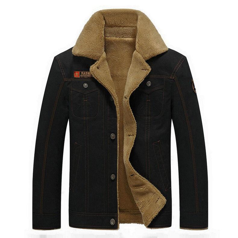 Winter Fleece Jackets And Coats Men Military Pilot Jacket Wa