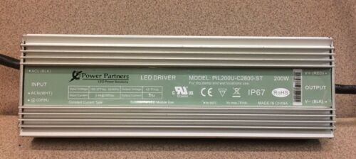 Power Partners,PIL200U-C2800-ST Used IP67,Waterproof LED Driver 200W 100-277V