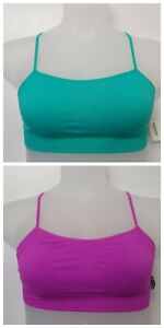New-Purple-and-Green-Workout-Yoga-Sports-Bras-Bralette-Womens-Ladies-UK-S-M-L