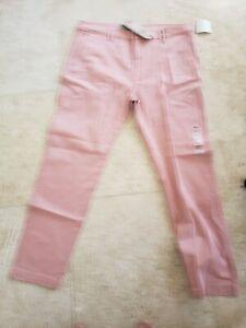 LEVI'S MEN'S XX CHINO STANDARD TAPERED LEG LIGHT CORAL PINK PANTS 36X32 $69 NWT