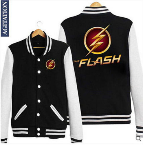 Mens The avengers The Flash Cosplay Costume fashion jacket coat Hoodie