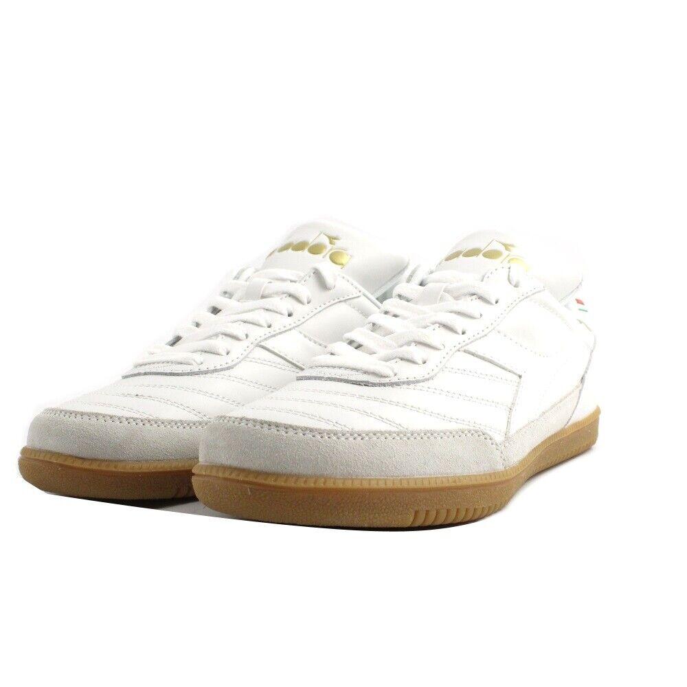 Zapatillas de Deporte Diadora oro Interior Hombre ante Piel blancoo Fondo Goma
