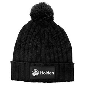 Holden-Woven-Knitted-Beanie-Winter-logo-Warm-Winter-Hat-Black-Pom-Pom-on-top