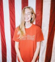 Brandy Melville Red darling Distressed Graphic Shirt Top