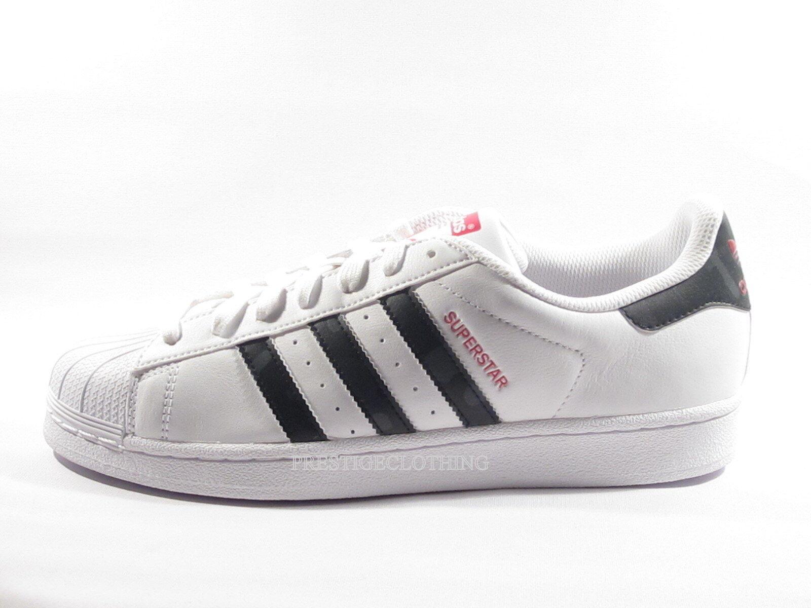 Original Negro Adidas Superstar Camo Blanco Negro Original Rojo Cuero formadores aq2349 02ad28