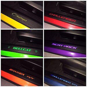 Dodge Challenger Illuminated Door Sill Inserts Fits 2015