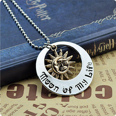 "Retro Vintage""Game of Thrones""Khal & Khaleesi Moon of My Life Pendants Necklace"