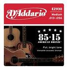 D'Addario EZ930 85/15 Bronze 13-56 Medium Acoustic Guitar Strings Full Set