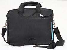 """Black Laptop notebook slim shoulder bag messenger carry case 13""""  travel school"""