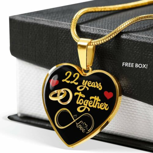 Married 22 Years Personalized Engraved 22nd Wedding Anniversary Gift For Her