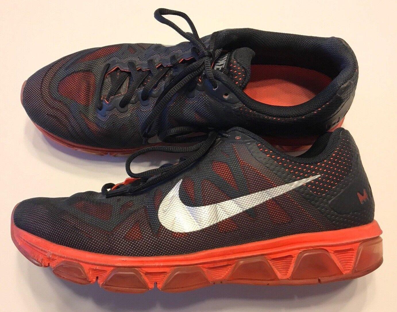 Nike air max spinta 7 uomini scarpe da corsa di colore rosso cremisi numero 13