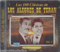 Nuevo - Alegres De Teran Cd Las 100 Clasicas Vol 1 - 2 Cd's Brand Sealed