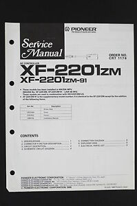 Details about Pioneer Xf-2201 ZM Original AE Controller Service Manual/Wiring on xj6 wiring diagram, xk120 wiring diagram, xjs wiring diagram,