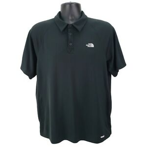 The-North-Face-Vapor-Wick-Polo-Shirt-Mens-XL-Black-Short-Sleeve-Performance-Golf