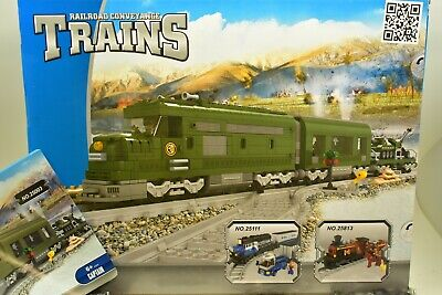 AUS25003 IMEX//AUSINI RAILROAD CONVEYANCE TRAINS MILITARY TRAIN SET W// 2 CARS