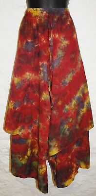 Hippy Ethnic Ethical Hippie Tie Dye New Fair Trade Cotton Skirt 24 26 28 30