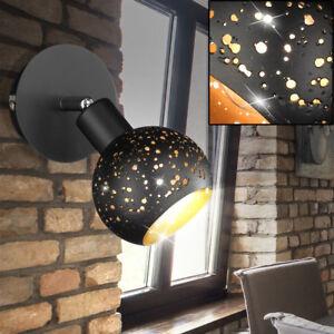Mur Spot Chambre à Coucher Lampe Lampe Spot or Noir Bille Réglable ...