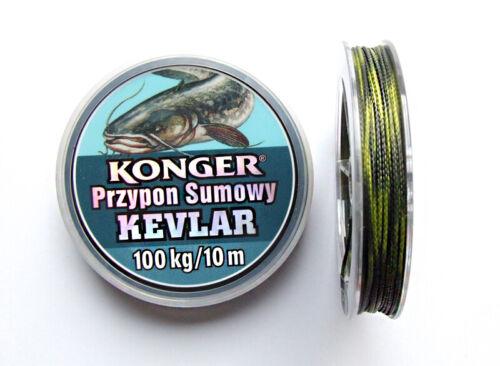 Professional Carp Braided Fishing Line with Kevlar Catfish Black 10 m Spools