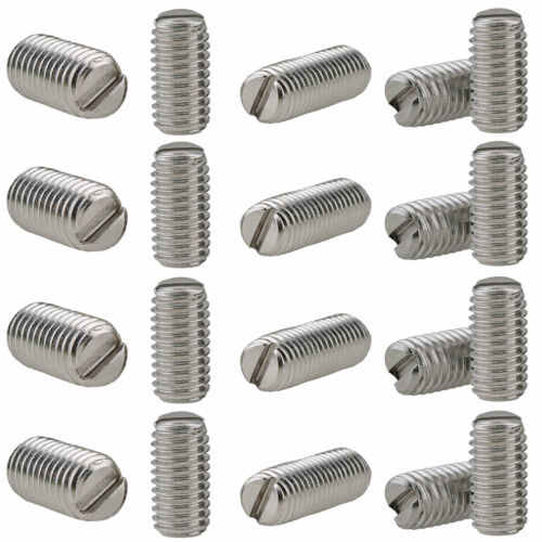 304 Stainless Steel Slotted Drive Flat Point Grub Set Screws M3 M4 M5