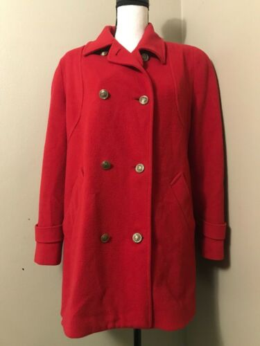 Vintage Mackintosh New England USA Red Wool Coat P