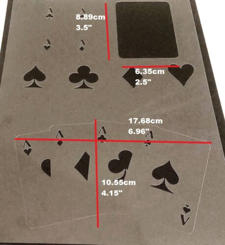 Game Playing Original Poker Cards Size Ace Diamond Club Heart Spade Stencil