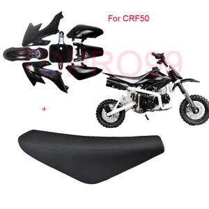 Pit-Dirt-Bike-Black-PLASTICS-Flat-SEAT-CRF50-50cc-110cc-125cc-Atomik-Thumpstar
