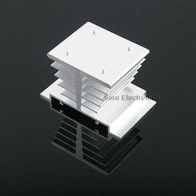 3x2inch Aluminum Alloy Heat Sink for 1W/3W/5W/10W LED Silver White+ M3 Screw