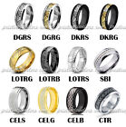 Tungsten Carbide Ring Band Men Women Celtic Jewelry Gold Black Silver Dragon NEW