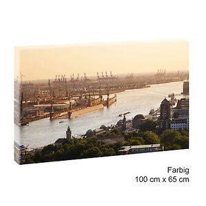 Tramonto Porto Amburgo muro immagine poster immagine tela 100 cm*65 cm 525  </span>