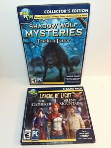 Big Fish Games Lot - League of Light and Shadow Wolf Mysteries - PC - NEW