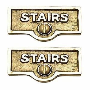2 Switch Plate Tags Stairs Name Signs Labels Lacquered Brass Renovator S Supp 96962428778 Ebay