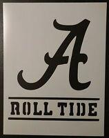 Alabama Crimson Roll Tide 8.5 X 11 Custom Stencil Fast Free Shipping