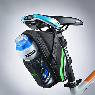 RockBros Cycling Bicycle Saddle Bag MTB Road Bike Seat Bags Pannier Black Green