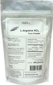 NuSci L-Arginine HCl Arg pure powder 250g(8.8oz) energy ...