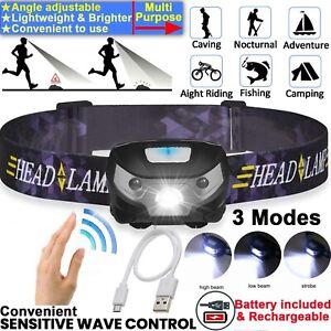 Waterproof-Headlamp-Head-Torch-Headlight-LED-Rechargeable-Flashlight-Work-Light