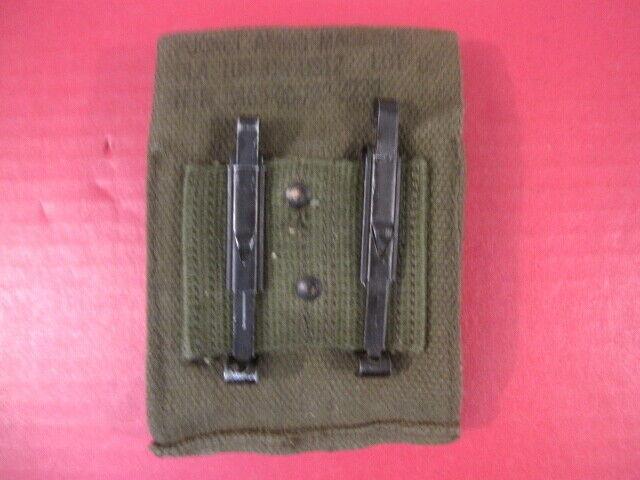 post-Vietnam Era USMC US Army M1923 Canvas Magazine Pouch Colt 45acp Mint