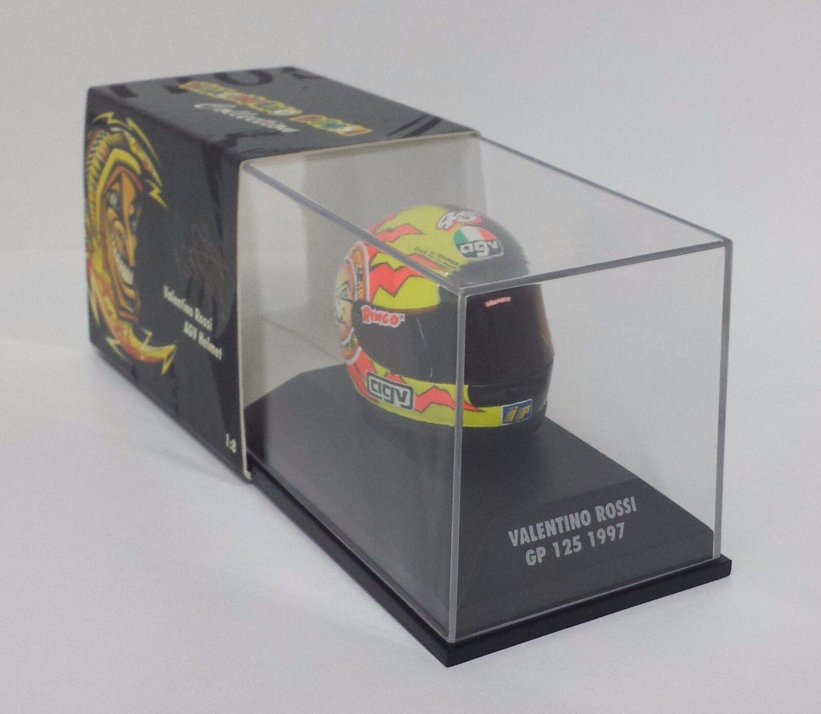 todos los bienes son especiales Minichamps Valentino Rossi AGV AGV AGV Casco Helmet 1 8 World Champion Gp 125 1997 Raro  Esperando por ti