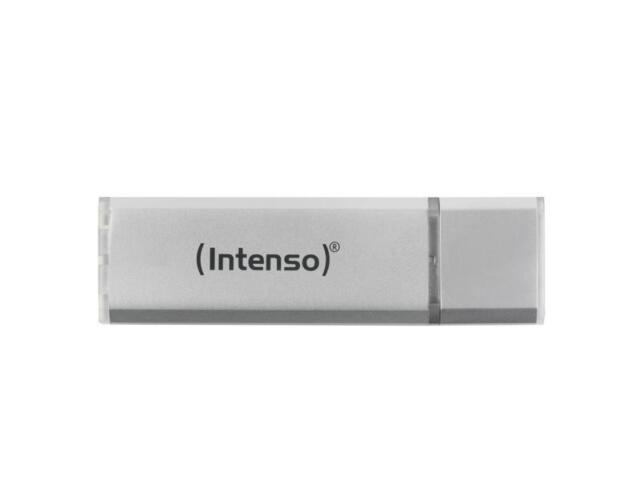 USB 2.0 Clé 64GB Clé Mémoire Intenso Alu Ligne Argent 3521492 Lecteur Flash