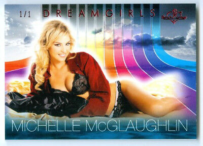 """Non-sport Trading Cards Humble Michelle Mclaughlin """"base Card #1/1"""" Benchwarmer Dreamgirls 2017 To Help Digest Greasy Food Collectibles"""