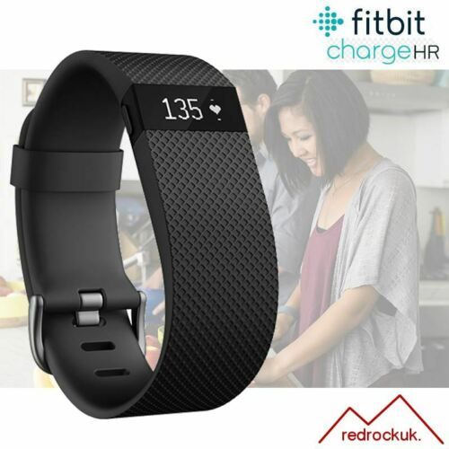 Small Black Fitbit Charge HR Fitness Activity Tracker with Heart Rate