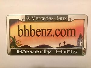 BEVERLY HILLS LICENSE PLATE PLACARD INSERT.