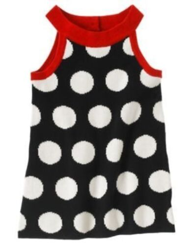 GYMBOREE WINTER PENGUIN BLACK w// POLKA DOT SWEATER JUMPER DRESS 3 6 12 18 24 3 4
