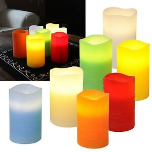 LED-Echtwachs-Kerzen-12-5x7-5cm-Timer-flackernde-flammenlose-Kerze-flackernd