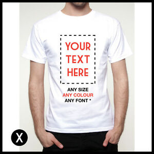 Image Is Loading Custom Printed Mens T Shirt Personalised Print Design