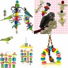 Pet Bird Bites Chew Parrot Toy Hanging Cockatiel Parakeet Swing Cage Treat Toy