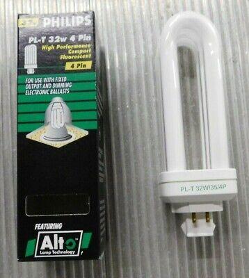 NIB Philips 32W 4 Pin Compact Fluorescent Bulb #PL-T 32W//41//4P Lot of 3