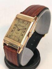 1930s Jaeger LeCoultre Reverso 18k Gold Vintage Watch - Rare