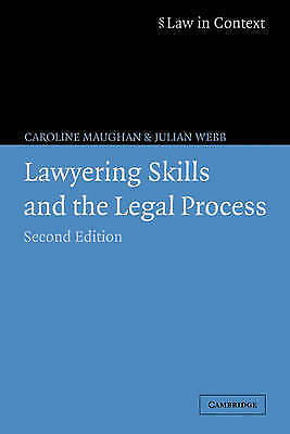 1 of 1 - Lawyering Skills and the Legal Process (Law in Context), Acceptable, Webb, Julia